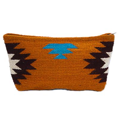 Hand Made Wool Clutch Handbag Sunrise from Mexico