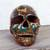 Ceramic sculpture, 'Story of Death' - Handcrafted Multicolor Ceramic Skull Sculpture from Mexico (image 2c) thumbail