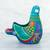 Ceramic sculpture, 'Teal Dove' - Ceramic Hand Painted Dove Sculpture Floral Motif from Mexico (image 2b) thumbail