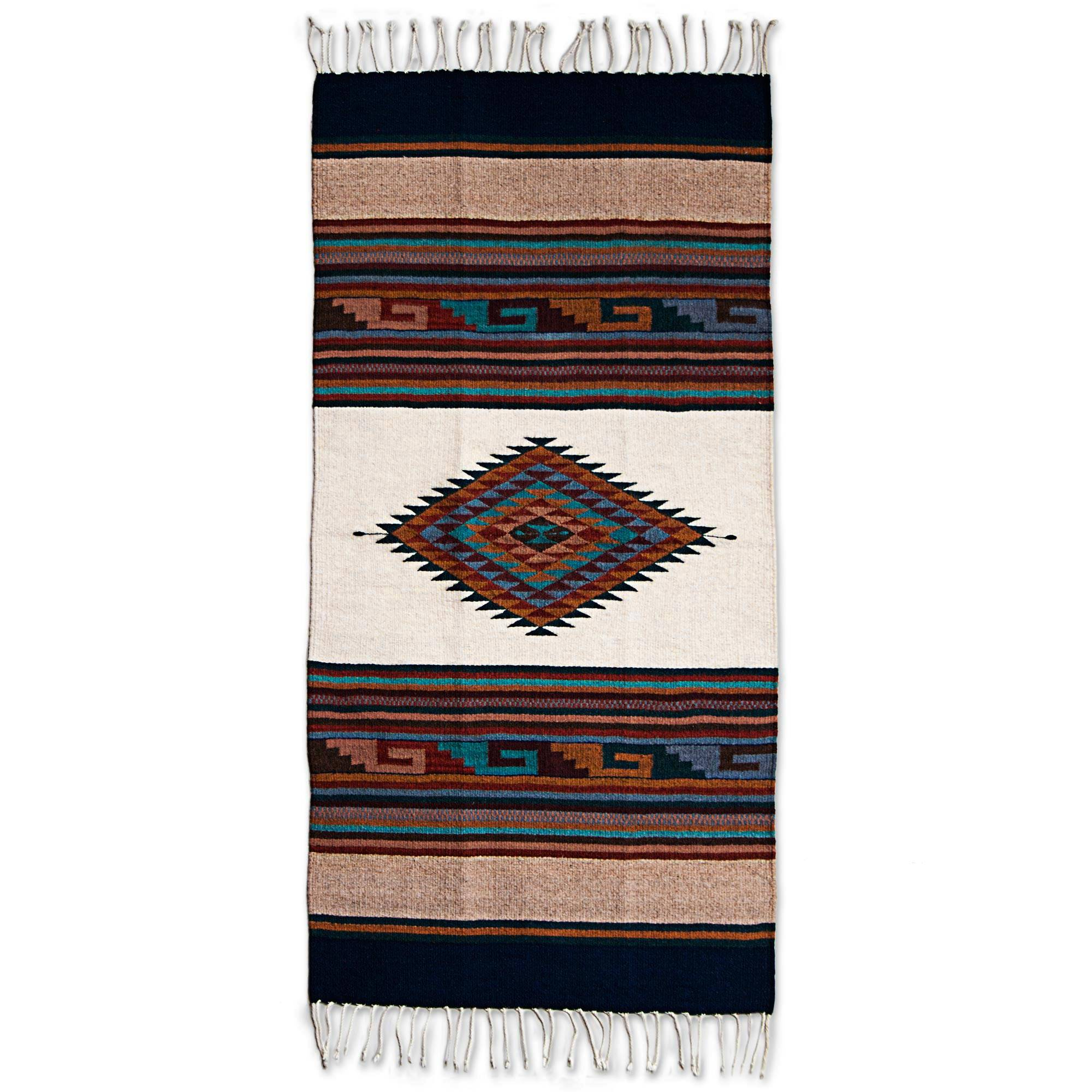 Unicef Market Hand Woven Multicolored Geometric Wool