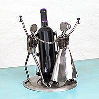 Recycled auto parts bottle holder,