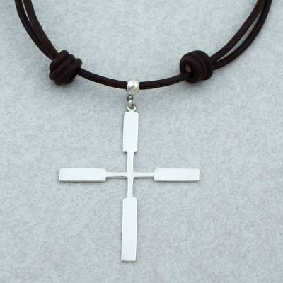 Taxco 925 sterling silver cross pendant necklace from mexico taxco sterling silver pendant necklace taxco cross taxco 925 sterling silver cross pendant aloadofball Image collections