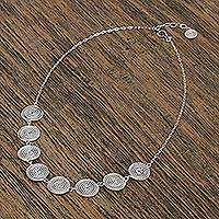 Sterling silver pendant necklace, 'Taxco Ropes' - Taxco Sterling Silver Spiral Pendant Necklace from Mexico