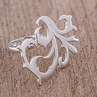 Sterling silver cocktail ring, 'Twisting Branches' - 925 Sterling Silver Vine Motif Cocktail Ring from Mexico