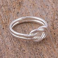 Sterling silver ring, 'For Infinity'