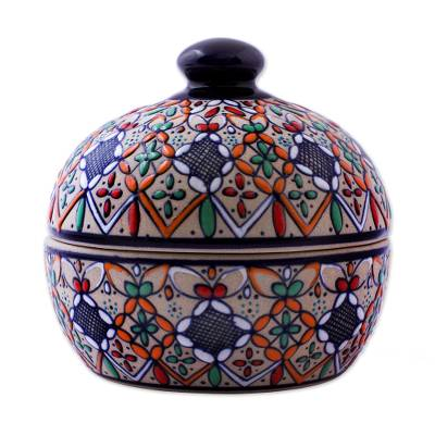 Handcrafted Mexican Ceramic Bonbonniere Candy Jar