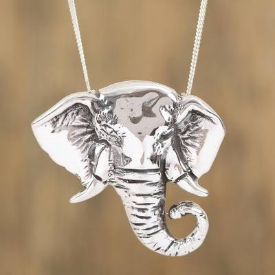 925 sterling silver elephant pendant necklace from mexico sterling silver pendant necklace harmonious elephant 925 sterling silver elephant pendant necklace aloadofball Gallery