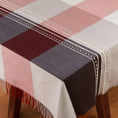 Cotton and silk blend tablecloth, Soft Shadows