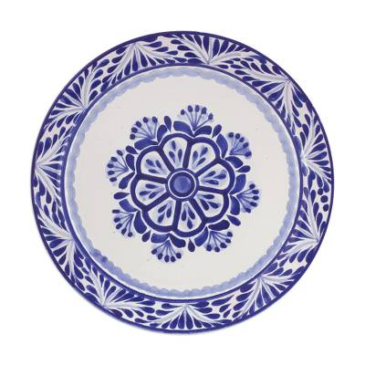 Majolica ceramic dinner plates u0027Floral Traditionu0027 (pair) - Two Round Majolica  sc 1 st  NOVICA & Two Round Majolica Ceramic Floral Dinner Plates from Mexico - Floral ...