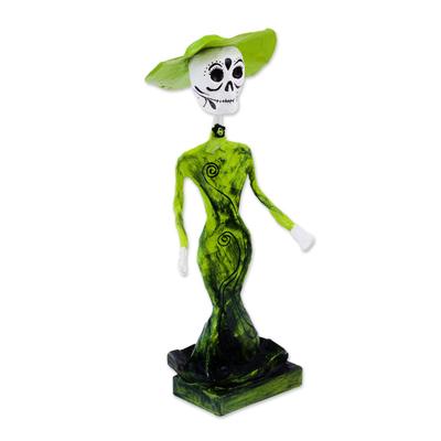 Mexican Day of the Dead Papier Mache Catrina Figurine