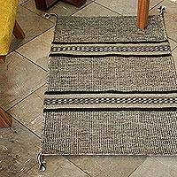 Wool area rug, 'Land of my People' (2x3)