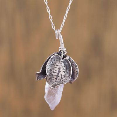 Novica Amethyst pendant necklace, Floral Crystal