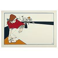 'Phyllis' (2005) - Signed Numbered 35-Inch Silkscreen Print Depicting a Woman