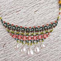 Tiger's eye and jasper beaded choker, 'Expression of Life' - Tiger's Eye and Jasper Beaded Choker from Mexico