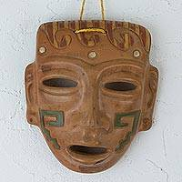 Ceramic mask, 'Teotihuacan Nobleman' - Teotihuacan Style Archaeological Replica Ceramic Mask