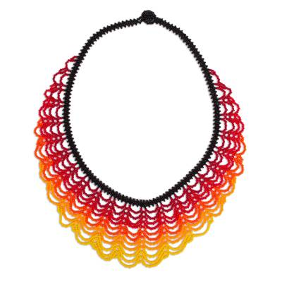 Handcrafted Beaded Statement Necklace from Mexico