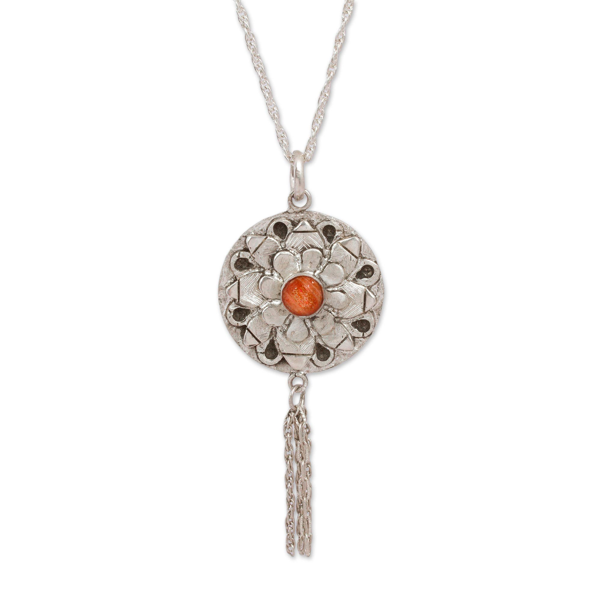 necklace jkonikoff product long pendant sunstone druzy