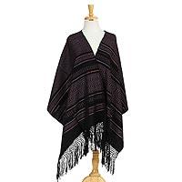 Cotton shawl, 'Elegant Designs'