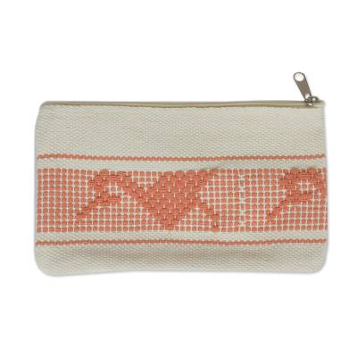 Novica Cotton makeup purse, The Birds and the Milpa