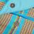 Cotton sling, 'Blue Heaven' - Sky Blue Loom Woven 100% Cotton Sling from Mexico (image 2d) thumbail