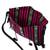 Cotton sling, 'Oaxacan Canvas in Black' - 100% Cotton Bohemian Style Striped Sling Bag from Mexico (image 2d) thumbail