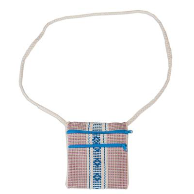 100% Cotton Hand Woven Blue and White Design Sling