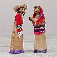 Ceramic nativity scene, 'Hillside Birth' - Handcrafted Ceramic Nativity Scene with Box from Mexico