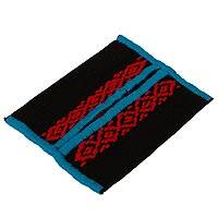 Cotton tissue holder, 'Twilight Colors' - Handmade Black Blue and Red 100% Cotton Tissue Holder
