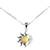 Amber pendant necklace, 'Honey Eclipse' - Sun and Moon Amber Pendant Necklace from Mexico (image 2a) thumbail