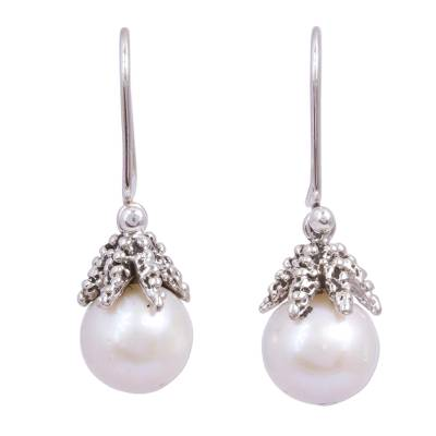 Cultured Pearl Starfish Dangle Earrings from Mexico