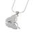 Sterling silver pendant necklace, 'Hope Soars' - Sterling Silver Butterfly Pendant Necklace (image 2e) thumbail