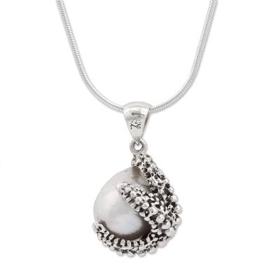 Cultured Pearl Starfish Pendant Necklace from Mexico