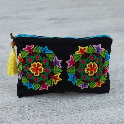 Cotton clutch handbag, Mandala Magic