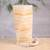 Onyx table lamp, 'Ribbons of Light' - Artisan Crafted Modern Streaked Onyx Table Lamp from Mexico (image 2) thumbail