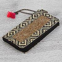 Natural fiber wallet, 'Texture and Tradition' - Handwoven Natural Fiber Wallet from Mexico