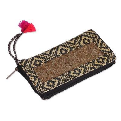 Handwoven Natural Fiber Wallet from Mexico