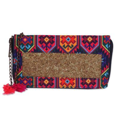 Colorful Natural Fiber Wallet from Mexico