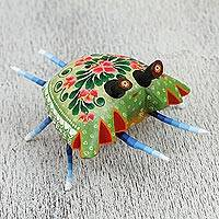 Wood alebrije sculpture, 'Lovely Crab' - Handcrafted Wood Alebrije Crab Sculpture from Mexico