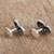 Sterling silver cufflinks, 'Calavera Style' - Sterling Silver Skull Cufflinks from Mexico (image 2c) thumbail