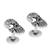 Sterling silver cufflinks, 'Calavera Style' - Sterling Silver Skull Cufflinks from Mexico (image 2d) thumbail