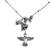 Sterling silver pendant necklace, 'Hummingbird and Flower' - Sterling Silver Hummingbird Pendant Necklace from Mexico (image 2a) thumbail
