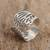 Sterling silver wrap ring, 'Gossamer Wings' - Butterfly Wing Sterling Silver Wrap Ring from Mexico (image 2c) thumbail