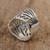 Sterling silver wrap ring, 'Gossamer Wings' - Butterfly Wing Sterling Silver Wrap Ring from Mexico (image 2d) thumbail