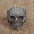 Sterling silver dome ring, 'Skull of Life' - Sterling Silver Skull Ring from Mexico thumbail