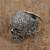 Sterling silver dome ring, 'Skull of Life' - Sterling Silver Skull Ring from Mexico (image 2b) thumbail