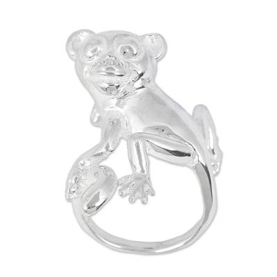Sterling Silver Monkey Cocktail Ring
