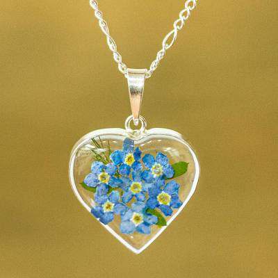 flower u made topaz in a plumeria blue jewelry diamond s necklace
