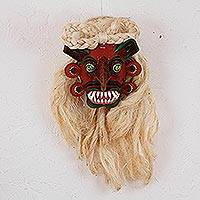Leather mask, 'Tastoan Warrior' - Leather Tastoan-Inspired Decorative Warrior Mask