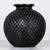 Ceramic decorative vase, 'Oaxacan Raindrops' - Teardrop Motif Oaxaca Barro Negro Decorative Ceramic Vase (image 2) thumbail