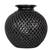 Ceramic decorative vase, 'Oaxacan Raindrops' - Teardrop Motif Oaxaca Barro Negro Decorative Ceramic Vase thumbail